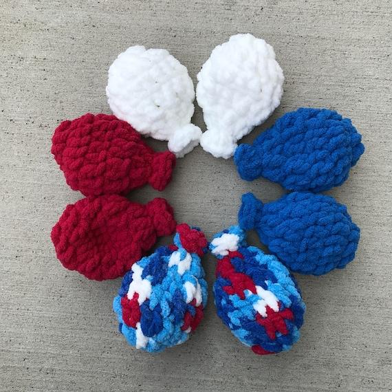 Ballon d'eau - ballon d'eau au Crochet - Crochet eau ballons - Crochet ballon - bleu, blanc et rouge - Amérique - drapeau - lot de 8 - comprennent