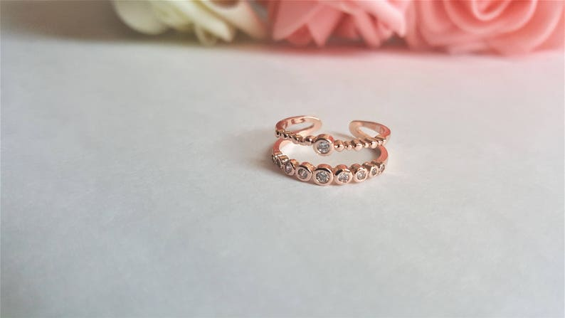 Simple and Elegant Women/'s Present Gift 18K ROSE GOLD RING mothers day TatianaStunt Stackable ring
