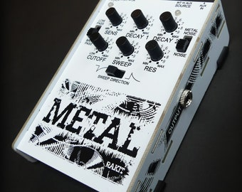 Metal Synth kit by Rakit - Shaped Noise Percussion Synthesizer - DIY Synth Kits - Electronics - Soldering