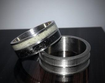 Ring,Obsidian ring,luminarc Engagement ring,Jewelry,Wedding ring,Handmade,Luminarc Ring,Natural jewelry,Multistone Rings,Titanium ring
