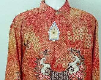 Long sleeve Indonesia Java Batik for men