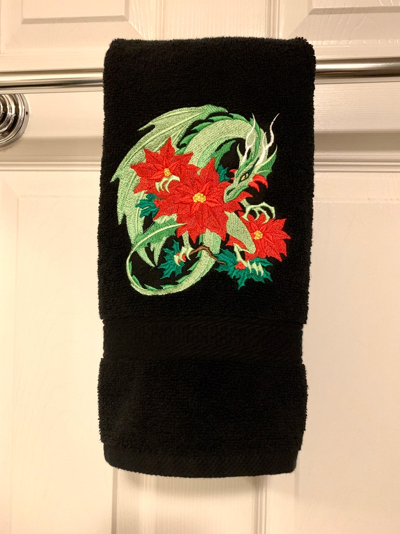 Christmas Dragon Hand Towel image 0