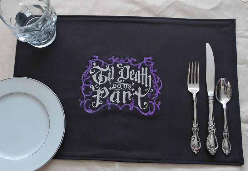 Till Death Do Us Part Embroidered Placemat image 0