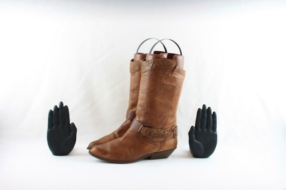 Sz 10 Vintage Boots-Vintage Brown Boots-Women Boot