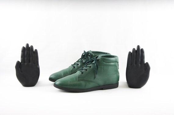 Size 8 Vintage Boots-Vintage Women Boots-Flat Lace