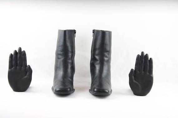 Vintage Boots-Size 7.5 Boots-Vintage Womens Wear-Women Black Boots-Liz Claiborne Ankle Boots