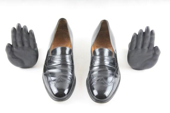 Size 8.5D Mens Ferragamo Loafers-Vintage Mens Slip