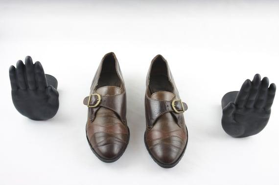 Vintage shoes-Size 7 Shoes-Vintage Women Shoes-Fla