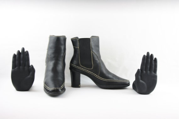 Size 8 Vintage Ankle Boots/Women Ankle Boots/Leat… - image 3