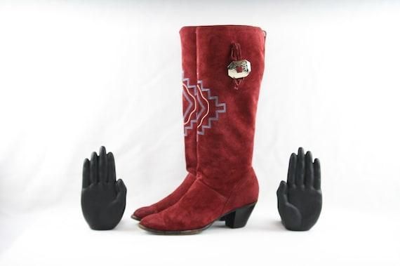 Size 8 Boots-Vintage Boots-Women Vintage Boots-Wes
