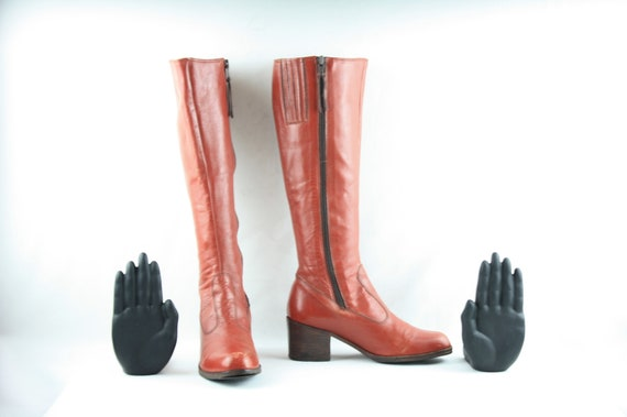 Size 6-Women's Vintage Boots-Knee High Women's Bo… - image 2