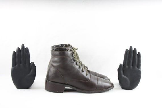 Size 7.5 Boots-Vintage women's Boots-1990's Lace U
