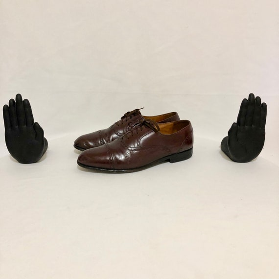 Vintage Shoes. Size 10 Maroon Genuine Leather 1980