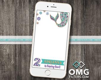 Mermaid Party 1 - Custom Snapchat Filter - Birthday / Baby Shower / Any Event! Any Age!