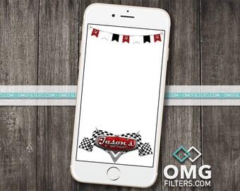Race Cars Party - Custom Snapchat Filter - Any Age!