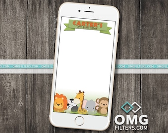 Jungle Party 2 - Custom Snapchat Filter - Birthday, Baby Shower, Any Event!