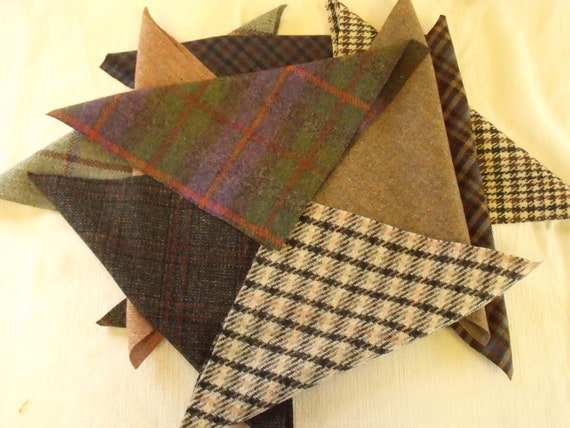 Harris Tweed Tela Etiquetas 100/% Lana Tartan Herringbone Craft Patchwork Costura 1