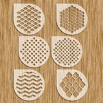 "Shapes & Patterns Sampler / 6 Piece (4"" diameter) Cookie Set Stencils - Sku SPC0100"