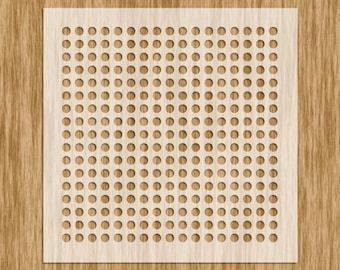 """Polka Dots / Circle Pattern Stencil (5.5"""" x 5.5"""")"""