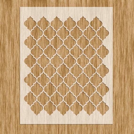 Moroccan Design Pattern Stencil Sku PM60 6060 X Etsy Magnificent Moroccan Design Pattern