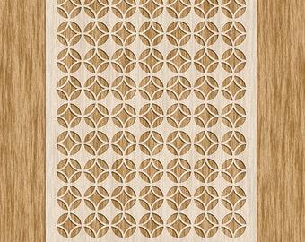 """Asian Pattern Small Pattern Stencil (8.5"""" x 11"""")"""