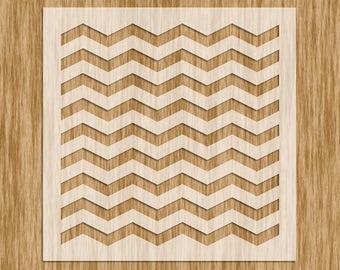 "Chevron Pattern (Zig Zag Line) Stencil (5.5"" x 5.5"")"