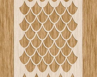 """Dragon Scale Extra Large Pattern Stencil (8.5"""" x 11"""")"""