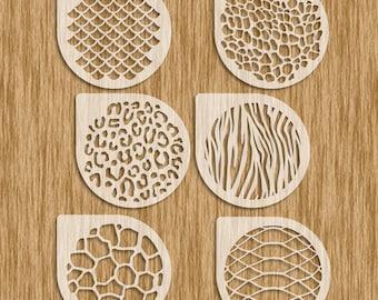 Animal Patterns Stencils 6 Piece Set