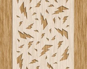 """Lightning Bolt Stencil (8.5"""" x 11"""")"""