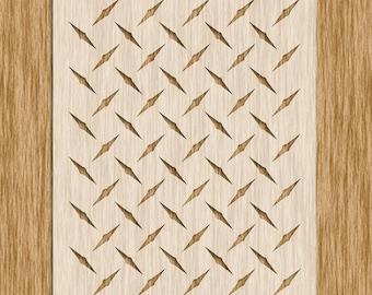 """Diamond Plate Pattern Stencil (8.5"""" x 11"""")"""