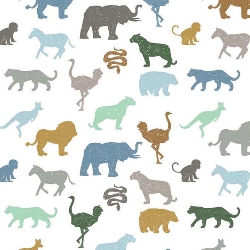 Boy African Animals Elephant Lion Zebra Tiger Blue Mustard Gray Mint Crib Sheet Changing Pad Boppy Baby Blanket Zoo Animals Baby Bedding