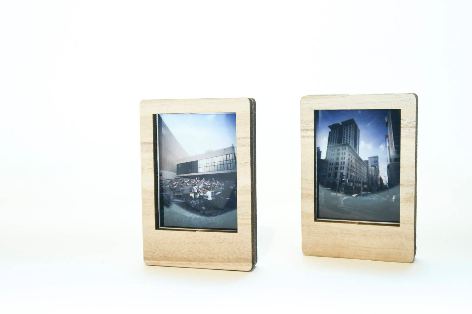 Set of 2 Wood Photo frames, Photo holder, Photo Stand for Instax ...