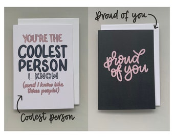 Card Bundle | UK, Pack, Hand Lettered, Calligraphy, Birthday, New Home, Promotion, Baby, Housewarming, Congratulations, Well Done, Blank