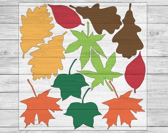 Fall Leaves Silhouette Cutting File