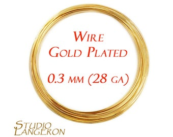 Gold plated wire etsy 45 meters 15 feet gold plated wire 03 mm 28 gauge wire wire wrapping gold plated wire gold plated gold plated findings keyboard keysfo Image collections