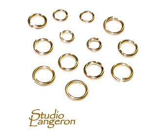 Solid 9ct Yellow Gold 4mm Open Medium Weight Jump Ring for Jewellery Making