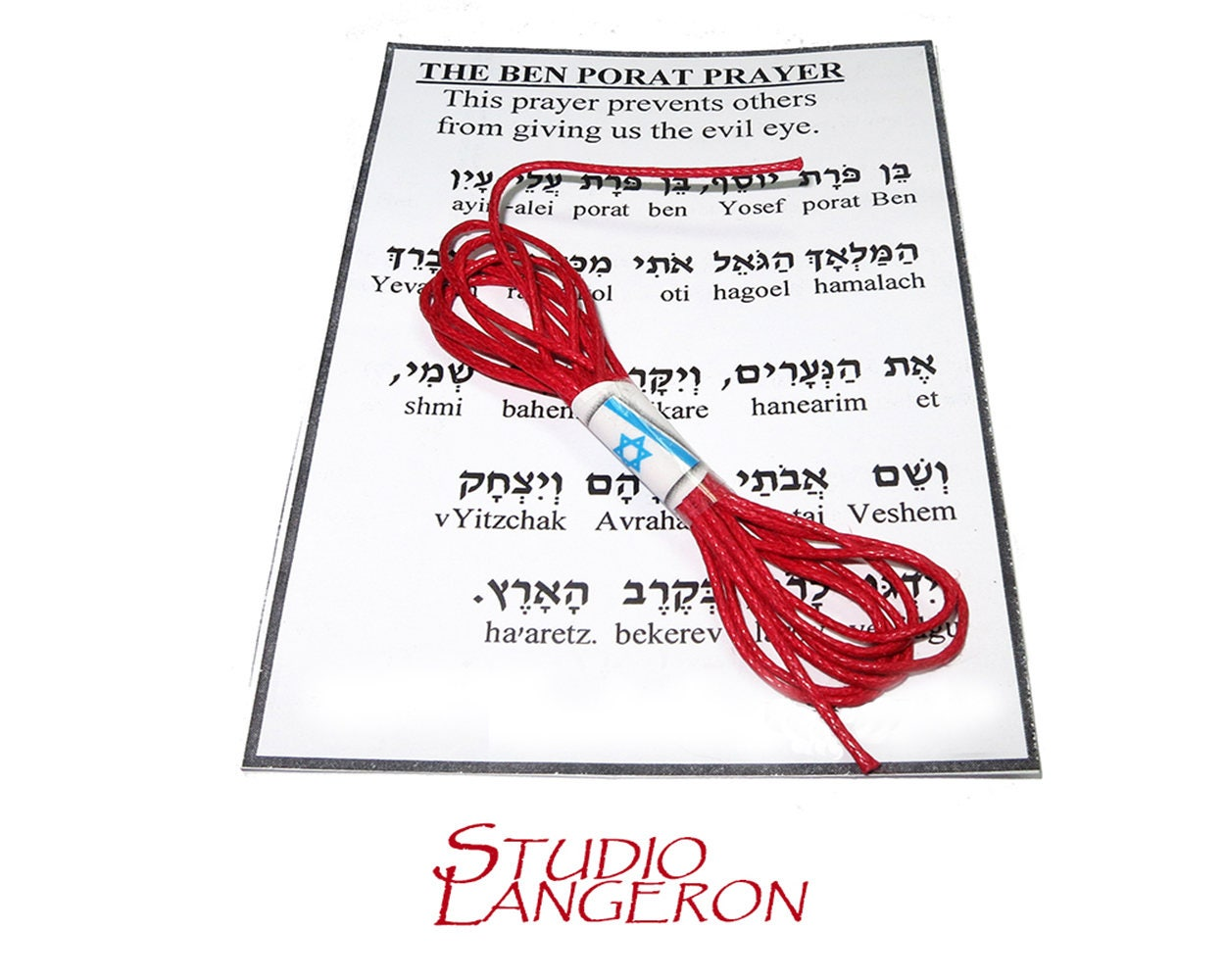 Red string Red thread Red string with prayer Jerusalem | Etsy