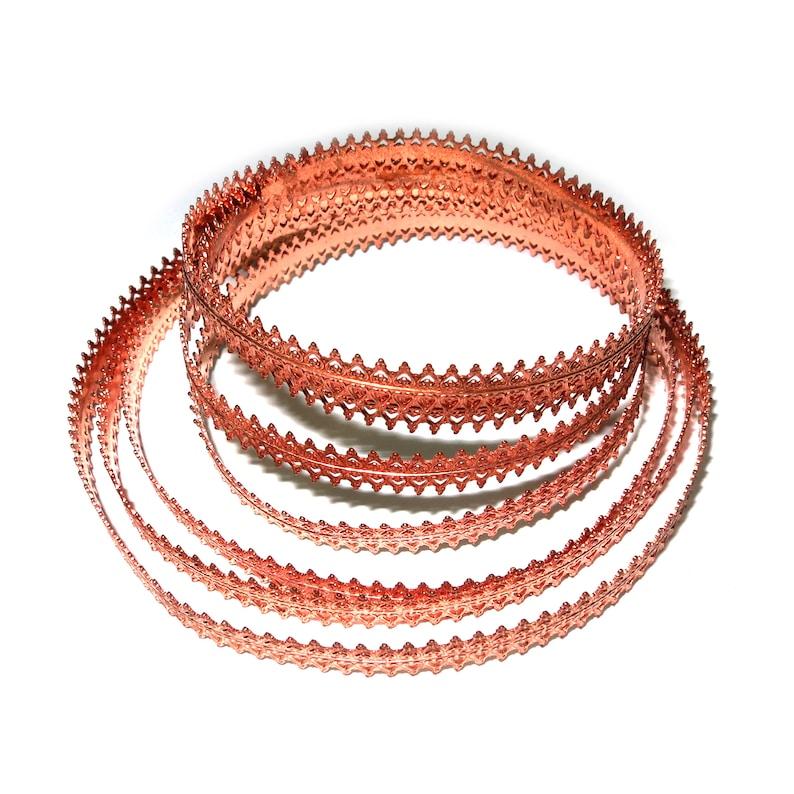Copper wire Gallery wire 4 inch Natural Copper Bezel wire 10 cm Findings Natural Copper Gallery pattern Wire Gallery ribbon
