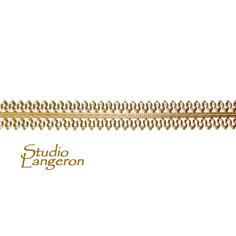 Gallery pattern Gallery ribbon Gold Filled Setting 4 inch 14K Yellow Gold filled Gallery wire Bezel wire 10 cm Gold Filled Wire