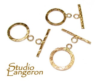 14K Yellow Gold filled Toggle Clasps size 13.5 mm, Gold Filled Toggle clasp, Clasp findings, 14K Gold Filled clasp, Gold Filled - 1 piece