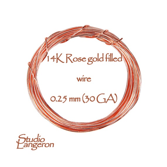 Rose gold filled 3.0 meters ON SALE!! 10 Ft Gold Filled wire Wire Wrapping 14K real rose gold filled wire 30 Gauge Wire