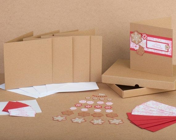 Items similar to Snowflake Handmade Christmas Card Kit ...