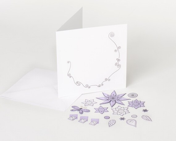 Make your own mothers day card card kit diy greeting cards make your own mothers day card card kit diy greeting cards cardmaking handstamped cards perfect for mum crafty people lilac flowers from m4hsunfo