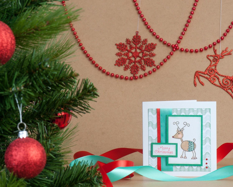 handstamped reindeer christmas craft kit diy christmas
