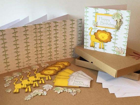 Jungle Theme Birthday Card Kit Making