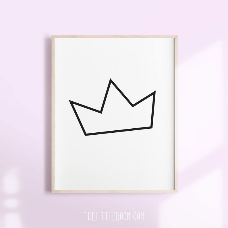 photo about Birthday Crown Printable named birthday crown, crown PRINTABLE POSTER, royal crown, royal crown artwork, crown poster, crown decor, crown small artwork, crown down load