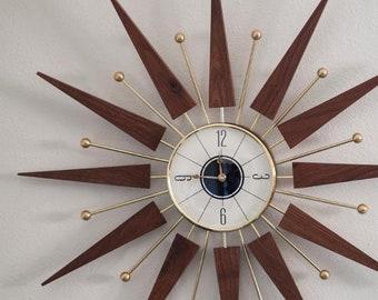 White new face starburst clock
