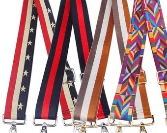 10 Choices 38mm Adjustable Nylon Stripe Shoulder Strap Crossbody Webbing Buckles DIY Handbag Tote Bag Messengers Travel Bag Handle Supplies