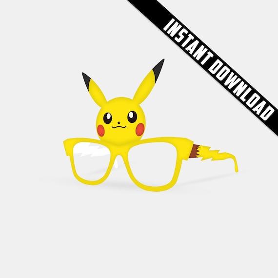 Pokemon Go V3 Printable Paper Glasses Pikachu Party Mask