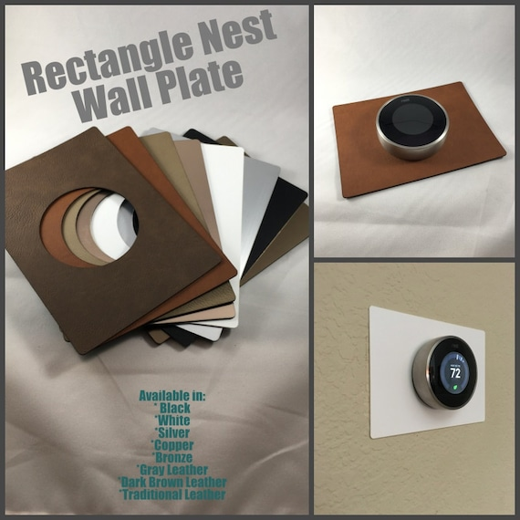 5 x 7 Rectangle Nest Thermostat Wall Plate Silver